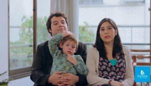 Verónica paciente de Clínica INDISA junto a su familia